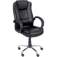 Cadeira Office Executiva- Preta & Prateada- 116,5X65Or Design