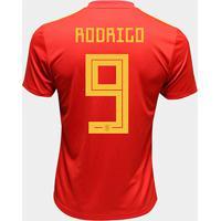 Camisa Seleção Espanha Home 2018 N° 9 Rodrigo - Torcedor Adidas Masculina - Masculino