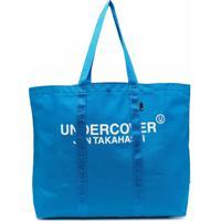 Undercover Bolsa Tote Grande Com Logo - Azul