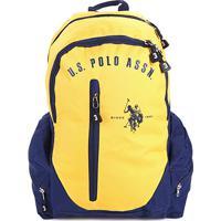 Mochila U.S. Polo Assn Grande Logo - Masculino-Amarelo