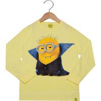 Blusa Malwee Minions Infantil Amarela