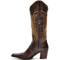 Bota Texana De Couro Country Capelli Boots Marrom