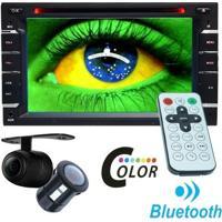Dvd Automotivo 2 Din 6.2 M2M Car 2D-01 Sd Usb Bluetooth Câmera De Ré 7 Cores Iluminação Botões