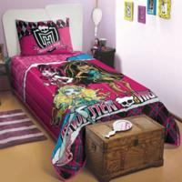 Colcha Matelass㪠Solteiro Monster High - Incolor - Dafiti