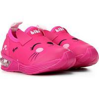 Tênis Infantil Bibi Luz Led Space Wave Cat Feminino - Feminino-Pink