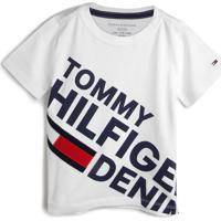 Camiseta Tommy Hilfiger Kids Menino Logo Branca