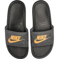 Chinelo Nike Benassi Jdi - Slide - Masculino - Preto/Cinza Esc