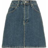 Eve Denim Saia Jeans Tallulah Cintura Alta - Azul