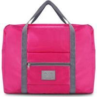 Bolsa Jacki Design De Viagem Dobrável Gg De Poliéster - Unissex-Pink