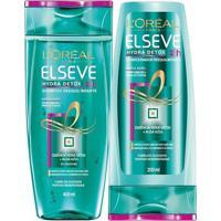 Kit Elseve Shampoo Hydra Detox 375Ml + Condicionador 170Ml