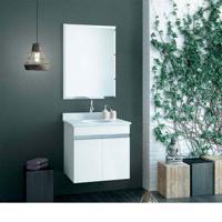 Bancada Para Banheiro Light 60X45X9Cm Para Cuba De Apoio Branca E Antique Venturini