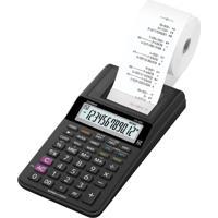 Calculadora Com Bobina Casio Hr-8Rc-Bk-B-Dc 12 Dígitos Preta