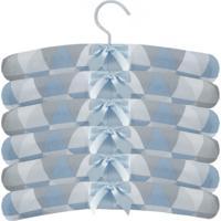 Kit 6Pçs Cabides Laura Baby Cabide Losango Azul