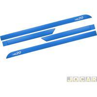 Friso Lateral - Hb20 2012 Em Diante - Azul Sky - Auto Adesivo - Jogo
