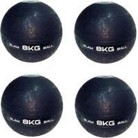 4 Bolas Medicine Slam Ball Para Crossfit 8 Kg Liveup - Unissex