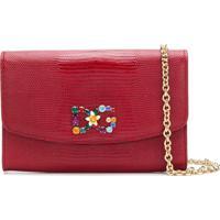 ... Dolce   Gabbana Bolsa Carteira De Couro Com Logo - Vermelho 446541dfb6a