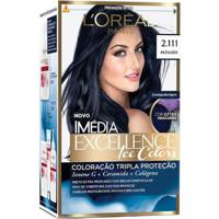 Coloração Imédia Excellence L?Oréal Paris - Ice Colors 2.111 Azulado - Unissex