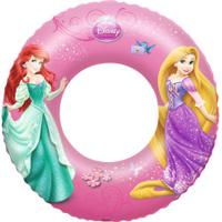 Boia Circular Inflável Bestway Princesas - Rosa Claro