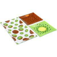 Conjunto De Petisqueiras Kiwi- Marrom & Verde- 3Pçs
