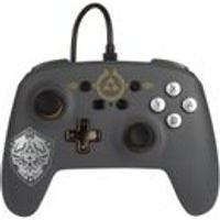 Controle Power-A Com Fio Nintendo Switch Hylian Shield Zelda