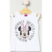 Blusa ''Minnie Mouse® Fashion Girl'' - Branca & Pretadisney
