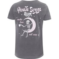 Camiseta Masculina Pirate Songs Rum - Cinza