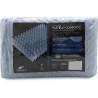 Travesseiro Fibrasca Mãºltiplo Conforto - Azul - Dafiti