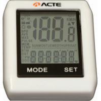Ciclocomputador Acte Sports - 16 Funções S/ Fio - Unissex