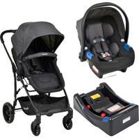 Carrinho Bebe Travel System Burigotto Convert Touring Evolution X Dark Grey E Base