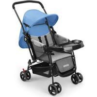 Carrinho De Bebê Berço Com Bandeja Nap Weego Azul - 4012 4012