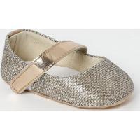 Sapato Boneca Com Fios Metalizado - Cobre & Dourado-Tico Baby