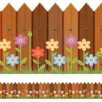 Faixa De Parede Adesiva Infantil Cerca Primavera 10Cmx5M