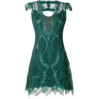 Lethicia Bronstein Vestido Curto De Renda - Verde