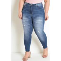 Calça Skinny Jeans Plus Size Sawary Compressora