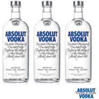 Vodka Absolut Original 1L - 03 Unidades