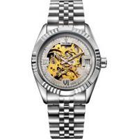 Relógio Tevise 8391B Masculino Automático Pulseira De Aço - Branco