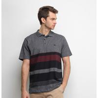Camisa Polo Quiksilver Vista Masculina - Masculino-Cinza