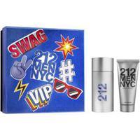 Kit Perfume 212 Masculino Eau De Toilette 100Ml + Shower Gel 100Ml