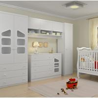 Jogo De Quarto Phoenix Baby Eloisa Modulado 5 Peças Com Berço Bambini Branco