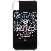 Kenzo Capa Para Iphone X/Xs Com Estampa De Tigre E Logo - Preto