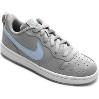Tênis Infantil Nike Court Borough Low 2 Ep Gg - Feminino-Cinza+Azul