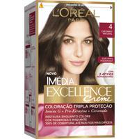 Coloração Imédia Excellence Creme N°4 Castanho Natural Imedia 47G