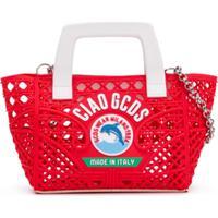 Gcds Kids Bolsa Tote Com Logo - Vermelho