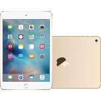 "Tablet Apple Ipad Mini 4 7.9"" Wi-Fi + Cellular 128Gb Dourado Mk772"