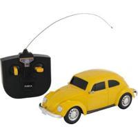 Carrinho De Controle Remoto Volkswagen Fusca - 07 Funções - Unissex-Amarelo