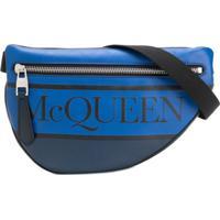 Alexander Mcqueen Pochete Com Logo - Azul