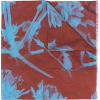 Paul Smith Echarpe Com Estampa Floral - Marrom