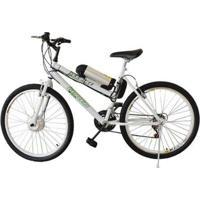 Bicicleta Tecbike Elétrica Tecstilo Branca
