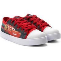 Tênis Infantil Disney Carros Masculino - Masculino-Cinza+Vermelho