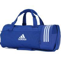 Mala Adidas Conversível 3S Duffel M - Azul/Branco
